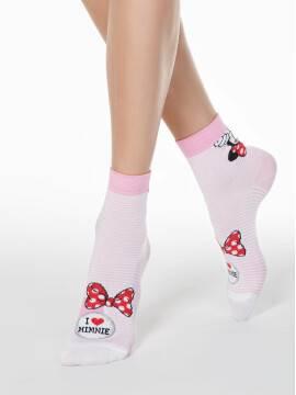 носки женские носки с рисунками минни маус ©disney 17С-128СПМ, размер 23, цвет светло-розовый