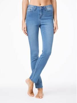 джинсы женские классические ультракомфортные прямые джинсы с высокой посадкой CON-47 CON-47, размер 164-110, цвет темно-синий