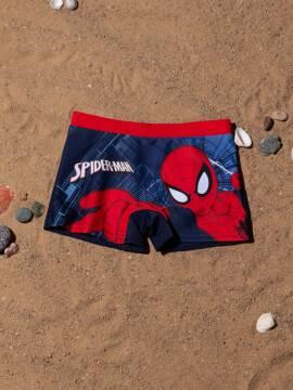 трусы купальные для мальчиков плавки SPIDER MAN с рисунками ©marvel , размер 52-45 (98),цвет victory red-blue