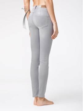 брюки джинсовые женские моделирующие eco-friendly джинсы skinny push-up с высокой посадкой CON-127 CON-127, размер 164-102, цвет light grey
