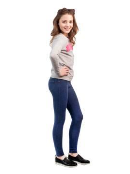 Леггинсы для девочек NOEMI 16С-254ДТСП, размер 134,140-72, цвет jeans