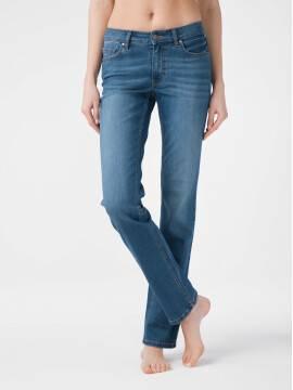 брюки джинсовые ультраэластичные eco-friendly straight джинсы со средней посадкой CON-154 lycra® CON-154, размер 164-102, цвет mid stone
