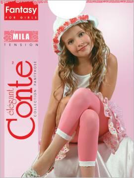 Леггинсы для девочек MILA 8С-110СП, размер 116-122, цвет nero