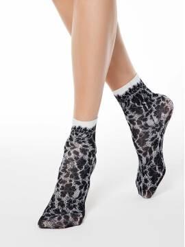 носки полиамидные женские носки с имитацией кружева FANTASY 70 17С-34СП, размер 23-25, цвет mix