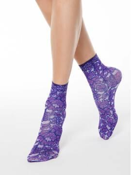 носки полиамидные женские носки с цветочным принтом FANTASY 70 17С-34СП, размер 23-25, цвет mix