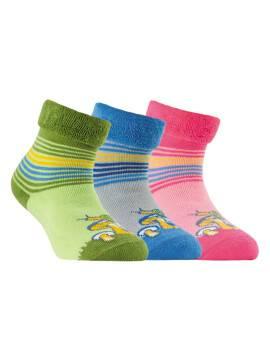махровые носки SOF-TIKI с отворотом 6С-19СП, размер 14, цвет светло-розовый