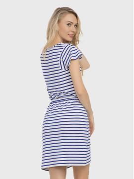 платье женское платье LPL 733 17С-374ТСП, размер 158,164-84-90, цвет белый-василек