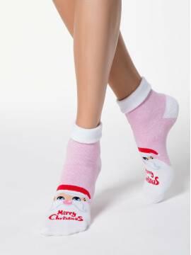 носки женские новогодние (люрекс) 17С-19СП, размер 23-25, цвет светло-розовый