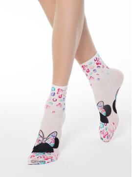 носки женские носки с яркими принтами любимых героев ©disney 70 18С-204СПМ, размер 23-25, цвет mix