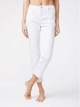 брюки джинсовые укороченные джинсы со средней посадкой CON-118 CON-118, размер 164-102, цвет white