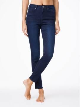 джинсы женские классические ультракомфортные джинсы skinny с высокой посадкой CON-82 CON-82, размер 164-90, цвет темно-синий