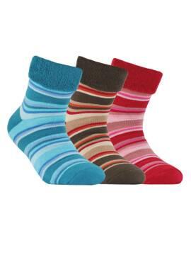 махровые носки SOF-TIKI с отворотом 6С-19СП, размер 20, цвет бордо