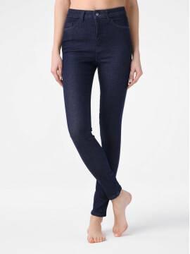 брюки джинсовые моделирующие eco-friendly джинсы skinny с супервысокой посадкой CON-175 lycra® CON-175, размер 164-102, цвет indigo