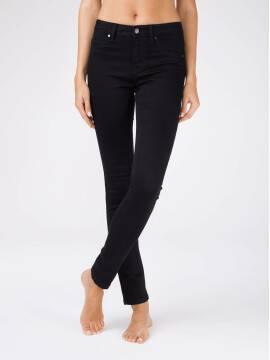 брюки джинсовые женские моделирующие черные джинсы skinny с высокой посадкой CON-96 CON-96, размер 170-90, цвет черный