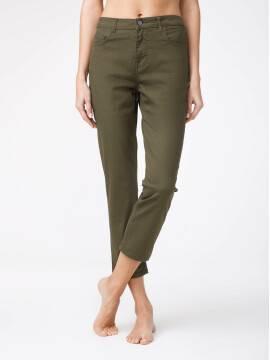 брюки джинсовые укороченные джинсы со средней посадкой CON-139A CON-139A, размер 164-102, цвет khaki