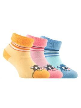 Носки хлопковые детские SOF-TIKI (махровые с отворотом) 6С-19СП, размер 14, цвет светло-желтый