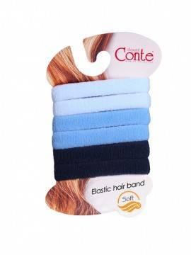 Резинка для волос SOFT (6 шт) 17С-25СП, размер б/р, цвет black-white