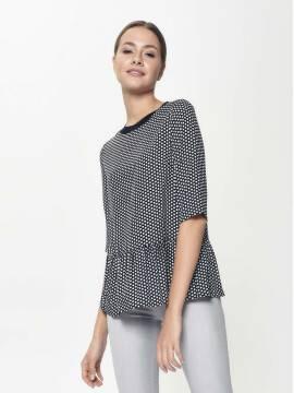 джемпер женский блузка со звездным принтом LBL 883 18С-634ТСП, размер 170-100-106, цвет black mini star