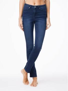 джинсы женские классические ультракомфортные прямые джинсы с высокой посадкой CON-46 CON46, размер 164-102, цвет темно-синий