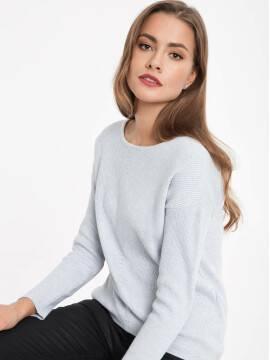 джемпер женский ультракомфортный джемпер из хлопковой пряжи с модалом 032 17С-145СП, размер 158,164-84, цвет светло-серый