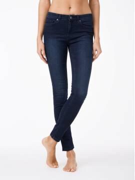 джинсы женские моделирующие моделирующие джинсы skinny со средней посадкой 623-100D 623-100D, размер 170-94, цвет темно-синий