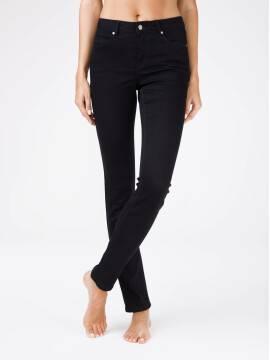 брюки джинсовые женские ультрамягкие чёрные джинсы с эффектом