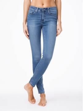 джинсы женские моделирующие моделирующие джинсы skinny со средней посадкой 4640/4915L 4640/4915L, размер 170-90, цвет синий