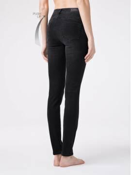брюки джинсовые моделирующие eco-friendly джинсы skinny push-up с высокой посадкой CON-148 CON-148, размер 164-102, цвет washed black