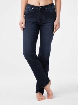 брюки джинсовые ультраэластичные eco-friendly straight джинсы с высокой посадкой CON-156 CON-156, размер 164-102, цвет blue-black