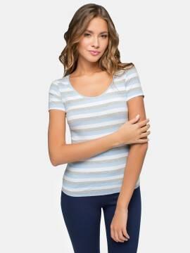 Джемпер женский Джемпер LD 632 16С-241ТСП, размер 158,164-100, цвет серый-голубой