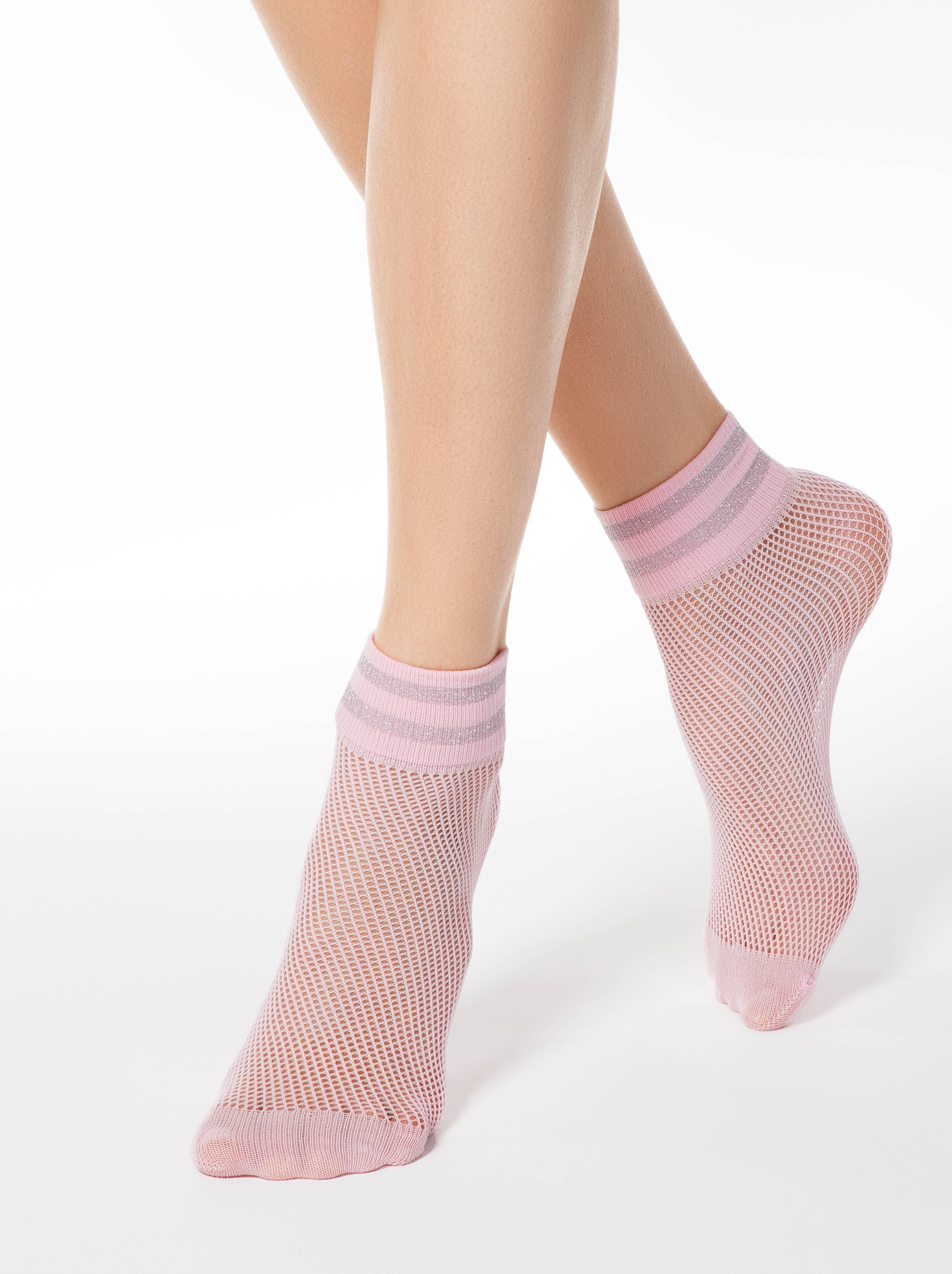 Короткие носки FANTASY с люрексом фото