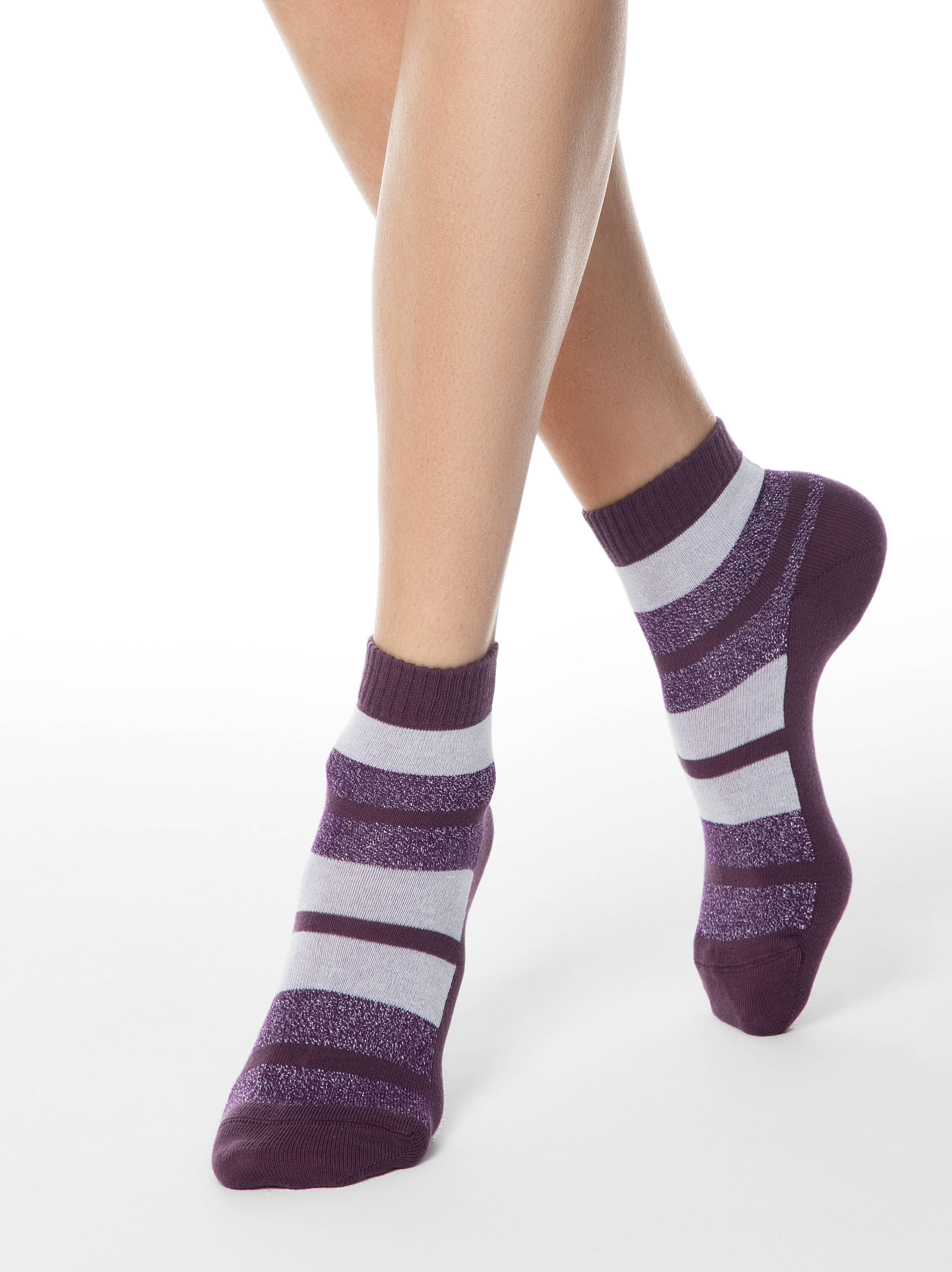 Хлопковые носки с люрексом CLASSIC фото
