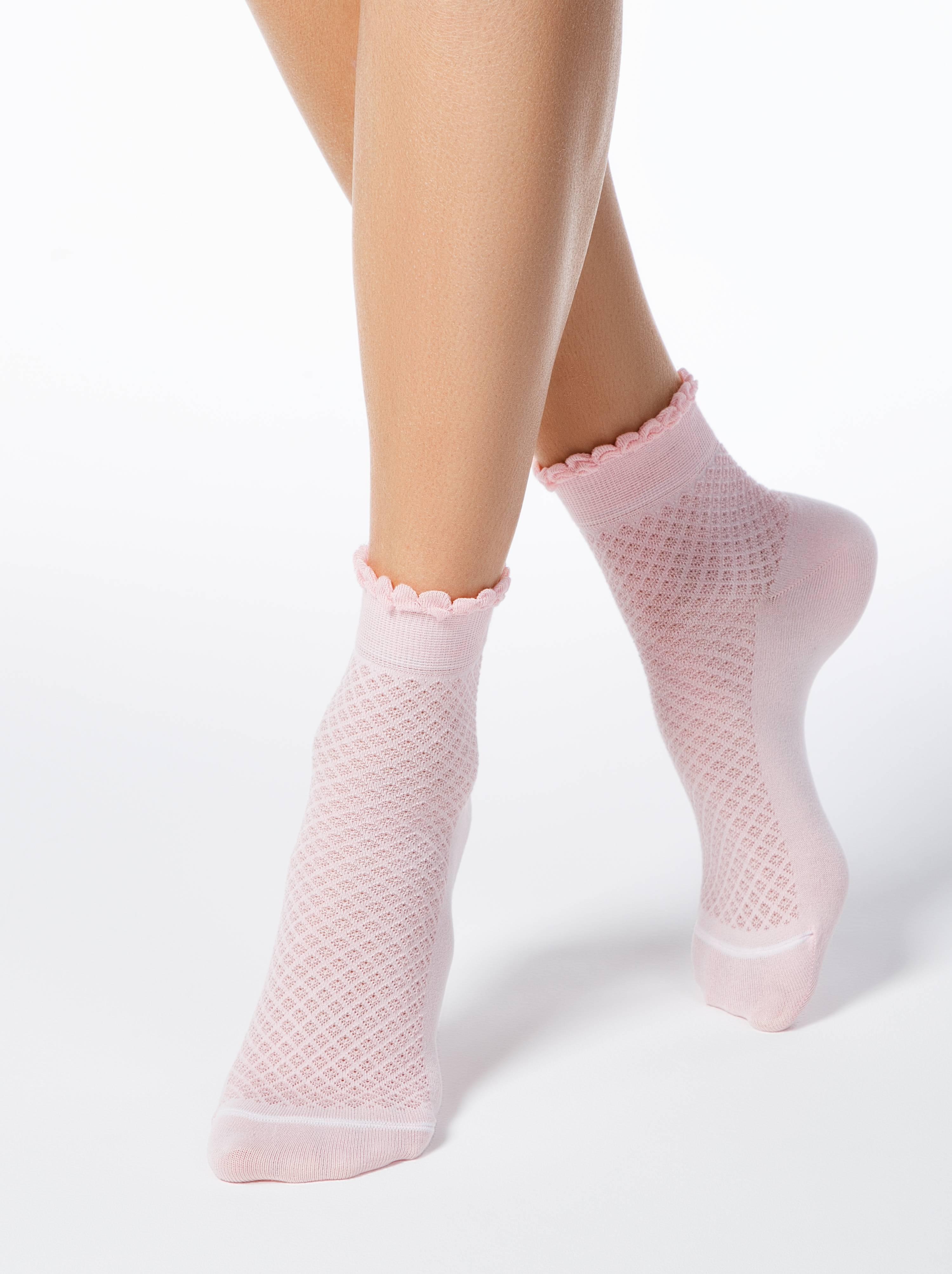 Ажурные хлопковые носки CLASSIC с пикотом фото